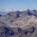 Blick in die viel-farbigen Gipfel der Julier-Region