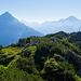 Rückblick zum Sunnig Grat Gipfelkreuz