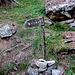 Herziger Wegweiser ( Das Kreuz ist ein Aussichtspunkt oberhalb Randa)