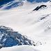 Detailstudie Gletscher mit Aufstiegsspur