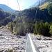 Hängebrücke die von Selden über die Kander führt
