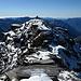 Rückblick vom Gipfel auf die letzten paar Meter
