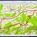 """...so erscheint die Route auf meinem Bildschirm. Den Swiss-Topo-Fehler """"Les Grottes de Réc<b>i</b>ère"""" (aber, aber!) habe ich mit Tipp-Ex korrigiert!"""