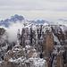 Eindrücklich verschneite Dolomiten-Gipfel