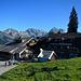 An der Alp Sellamatt ist der Alpstein noch wolkenlos.