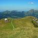 Vorbei an der Schäferhütte beginnt nun der schöne Teil des Aufstiegs über den N-Rücken.