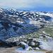 Blick vom Kamor nach Westen: Schäfler, Kronberg, Brülisau, Appenzell