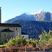 Rossura, Blick auf die schon schneebedeckten Berge