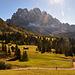 Descente du Passo di Poma, au fond les Odles / Gaislerspitzen