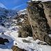 Durch eine prächtige Felslandschaft schlängelte sich die Spur dem Dent de Morcles Südgrat entgegen.