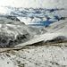 Im Schlussaufstieg zur Fanezfurrga - Ausblick nach Süden wo ein Weg durch die Ducanfurrga nach Bergün führt