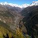Le Lötschental vu depuis Faldumalp.