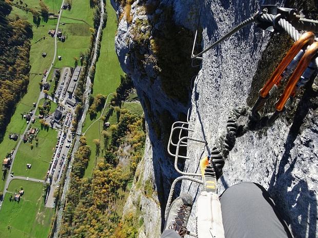 Klettersteig Mürren : Mürren klettersteig m u tourenberichte und fotos hikr