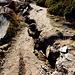 Fissures du sentier d'Aletsch