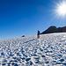 Noch auf dem Gletscher, kurz vor dem Schwander Grat P.2859