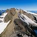 Rückblick beim Aufstieg zum Gipfel