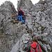 Heading up towards the gap in the rocks.