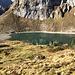 Der Oberblegisee ( 1420m ). Den werden wir auch noch besuchen heute