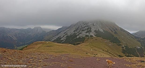 Zum Hirscheggsattel war's noch einmal ordentlich windig... ☺