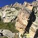 nein, dies ist nicht der Weg - nur ein Blick empor zum Col de la Breya