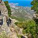 Im Abstieg mit Blick zur Punta Bianca