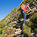 Kettengesicherte Passage beim Aufstieg zum Druesberg
