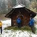 im leichten Schneetreiben beim Waldhüsli