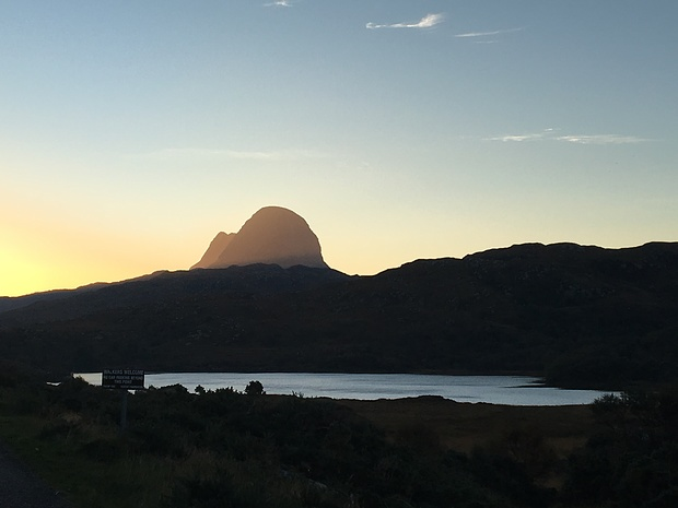 Suilven is a very prominent mountain and stands alone dominating its surroundings
