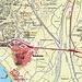 Karte von Salobreña mit dem nördlich der Stadt gelegenem Hügel Cerro Hacho. Der 75m hohe Cerro Hacho ist gelb unterstrichen.