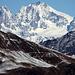 Bernina....a destra sul limitare del ghiacciaio il rifugio Marco e Rosa