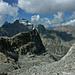 Im Abstieg vom Helsenhorn: Bortelhorn, Hillehorn und davor P.2854