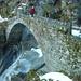Die Brücke beim Soladino-Wasserfall