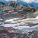 Meine Route vom Pizolsattel über den Gletscher zu den Wildseeluggen, der Anfang der Route ist sicher steiler als es hier aussieht.<br />
