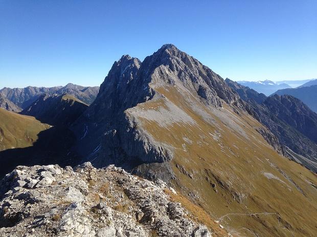 Die westlichen Eckpunkte der Heiterwand - Gabelspitze und Maldongrat