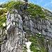 die Kletterstelle zum Hauptgipfel vom Hauptgipfel aus fotografiert
