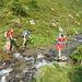 l'attraversamento del fiume alle q. 2090 m circa
