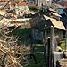 Rancate, con la chiesa parrocchiale di Santo Stefano, salendo a Tremona.