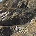 Il complesso minerario e la scaletta di accesso