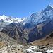 Blick vom Annapurna Base Camp Richtung Machhapuchhare Base Camp