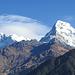 Sicht auf die Annapurna South vom Deurali Pass aus.