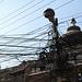 Verschiedene Strom- und Telefonkabel in Patan