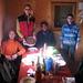 gli amici: da sinistra,Paolo,Andrea,Giuseppe R.,Giuseppe,Piero e Dino (grande cuoco,mi batte),in attesa di avventarsi sulla torta