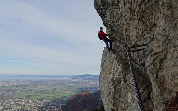 Klettersteig Via Kapf : Via kessi 1111m u2013 tourenberichte und fotos [hikr.org]