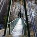 Hängebrücke über den Baltschiederbach