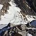 Blick vom Gipfel hinunter zum Oberen Wildhuser Schafboden (Abstiegsroute)