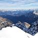 ... zurück zum Gipfelgrat, gen Osten ins Rätikon und die Österreicher...