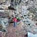 """Uno dei passaggi """"ghiacciati"""" del sentiero Cremorasco - Pian Grande"""