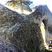 Die Felsbrücke aus Sandstein.