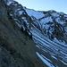 Steiler Aufstieg zum Juchli (Abkürzung), darüber das Mändli