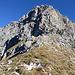 Aufstieg von der Chringe zur Kante: die von rechts hinaufziehende Rampe ist noch nicht sichtbar